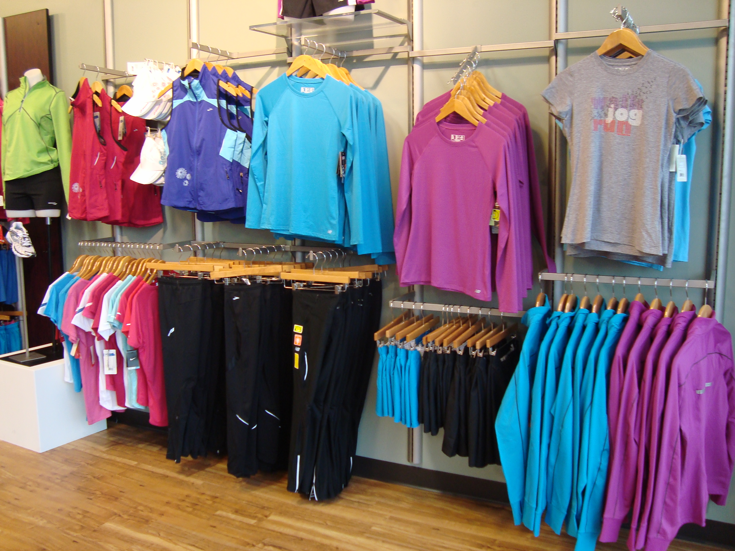 Technical apparel wicks away moisture and keeps you cool in hot weather and dry in cold weather.